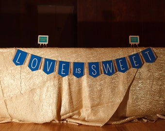 Custom Burlap and Fabric Banner for Weddings, Events or Decorating
