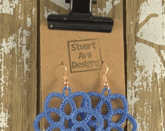 Embroidered Lace Earrings IN ANY COLOR