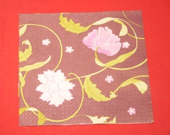 "paper flowers ""pink"" theme towel"