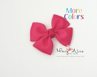 "Boutique Hair Bow- 3.25"" Girls Hair bow, pink hair bow, Butterfly hair bow, non slip hair bow, polka dot hairbow- Made to Order- Style: SDT1"