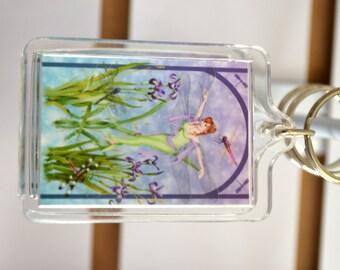 Dragonfly Fairy Acrylic Key Chain - The Dancer