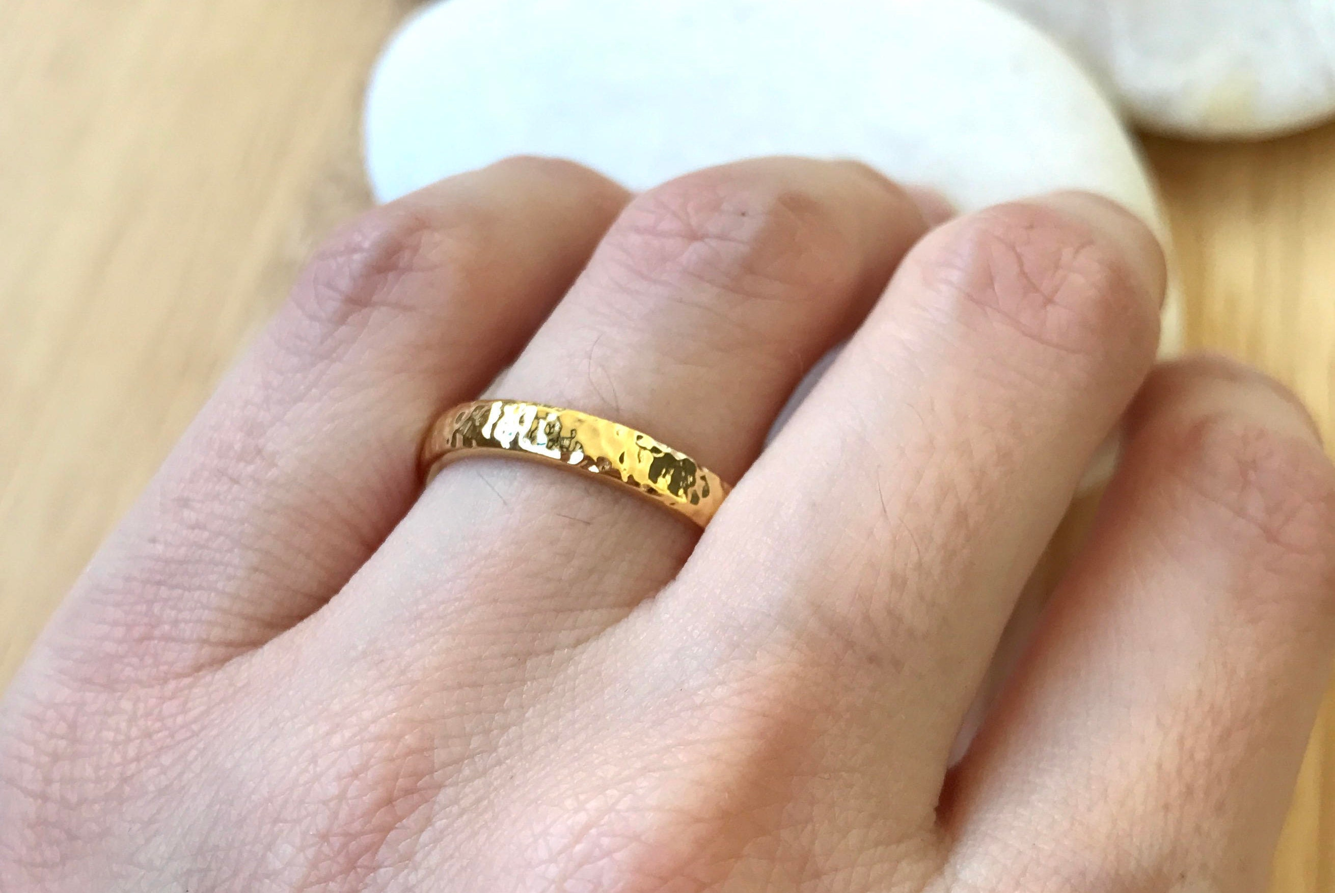 band for bands vintage rare in her retro men engraved gold inspirational s of yellow wedding