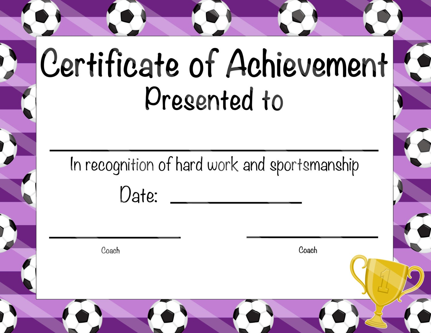 Soccer certificate of participation soccer award print at zoom 1betcityfo Gallery