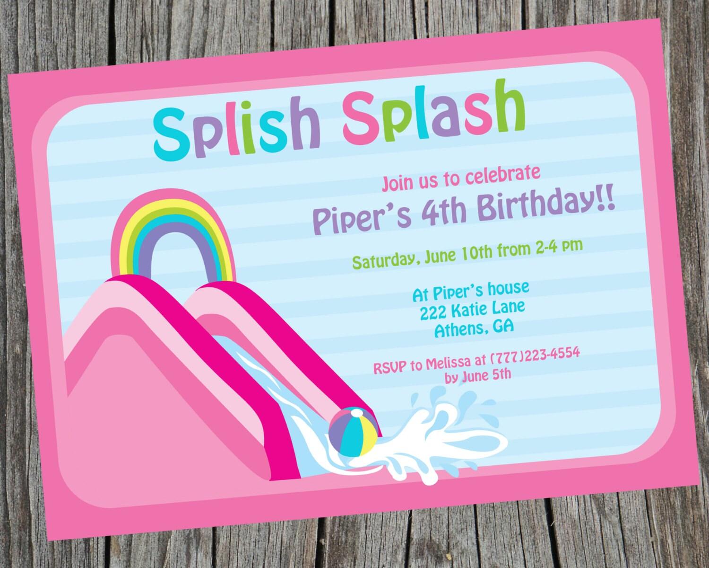 Waterslide party waterslide invite water fun invitation zoom stopboris Gallery