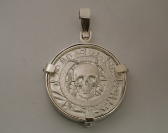 Silver coin Beze. Coin Bezel Made in sterling silver. Coin Pendant.