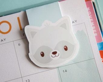 Raccoon Magnetic Bookmark (Jumbo) Clip, Bookmark, Raccoon Page Clip, Raccoon Planner Clip