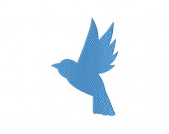 Blue bird bluebird silhouette machine embroidery design
