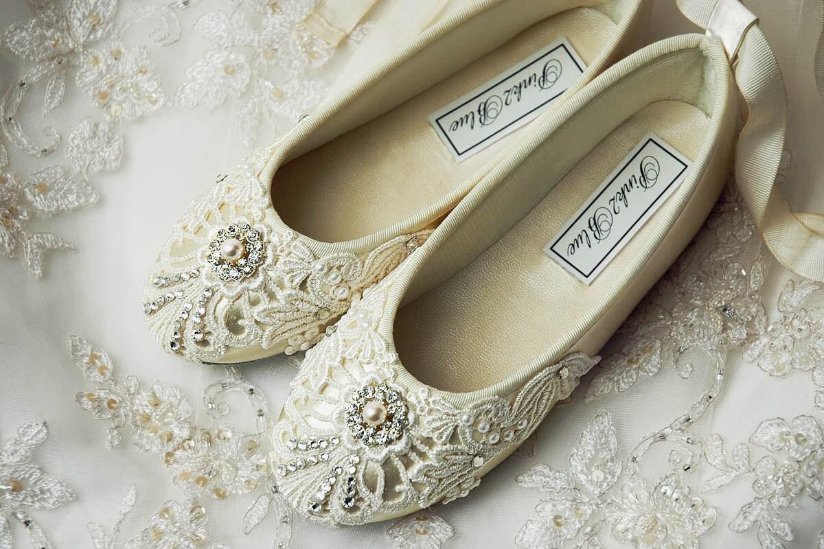Flower Girl Shoes Flower Girl Ballet Flats Wedding Vintage
