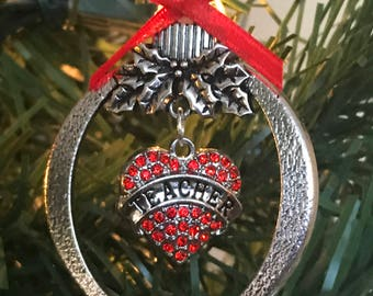 Teacher Christmas Ornament~Teacher Gift~USA Seller~Fast Shipping~Free Domestic Shipping!!!