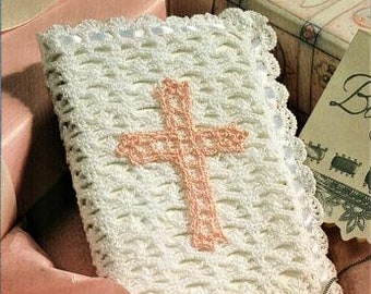 Bible Cover Thread Crochet Pattern, instant download pdf, Crochet Cotton Thread Size 20, measures 7.25 x 5.5 inches