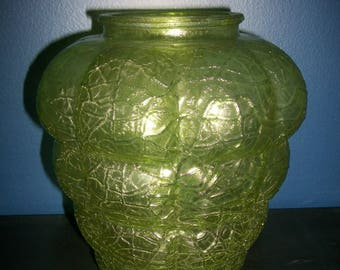 Vintage Green Bubble Glass Swag Pendant Light Shade