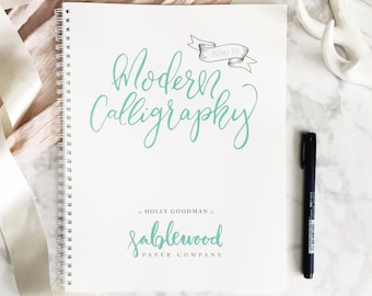 DIGITAL DOWNLOAD: Learn Modern Calligraphy Workbook // learn calligraphy // gift for her // birthday // Christmas gift // DIY