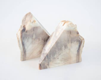 Vintage Natural Marble Bookends