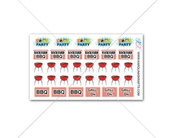 Itty Bitty Barbecue Planner Stickers! Itty Bitty Planner Stickers, Summer Stickers, Small Stickers, BBQ Stickers #SQ00630