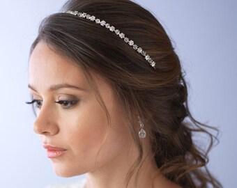 Crystal Bridal Headband, Rhinestone Wedding Headband, Bridal Hair Accessory, Swarovski Crystal & Rhinestone Headband, Bride Headband ~TI-763