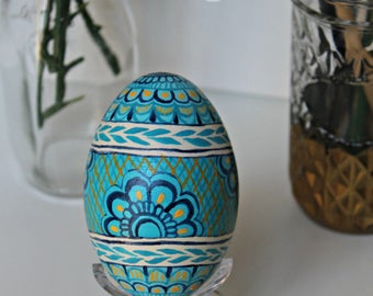 READY TO SHIP Henna Inspired Goose Egg