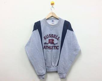 Rare!!! Vintage 90s Russell Athletic Sweatshirt Crewneck Spellout