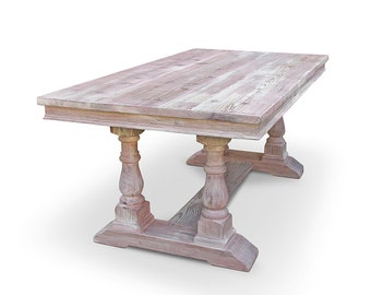Dining Table, Table, Reclaimed Wood, Kitchen Table, Trestle Table, Handmade