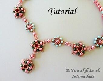 EOWYN beaded necklace beading tutorial beadweaving pattern seed bead beadwork jewelry beadweaving tutorials beading pattern instructions