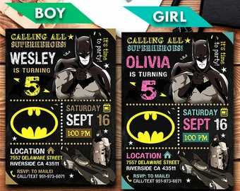 Batman invitations etsy batman invitation batman batman party batman invite batman birthday party batman birthday batman card batman printable filmwisefo