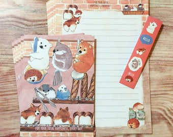 Fluffy Animals Letter Set - Bread