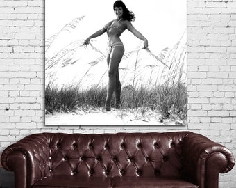 17bw Poster Mural Bettie Page Pinup Model Print