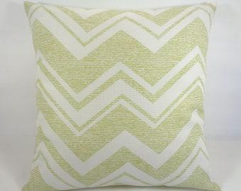 Pillow Cover Outdoor, Green Outdoor Pillow, Chevron Pillow, 18x18 Outdoor Pillow