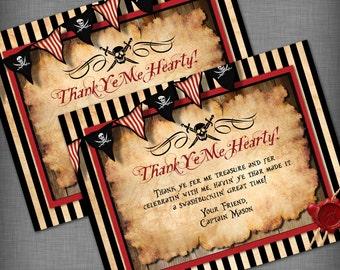 Pirate Theme Thank You Card