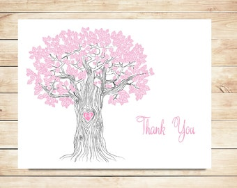 Oak Tree Thank You Cards - Sweet, Rustic Stationery, Stationary