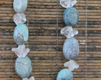 Clear Glass & Stone Necklace