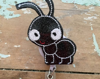 Ant bug ID badge reel holder retractable clip