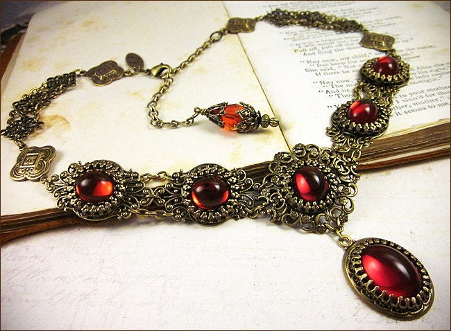 pot victorian old s necklace double vintage claire strand claires products metal cab black