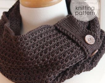 Knitting Pattern Scarf. Knitting Pattern Cowl. Knit Scarf. Knit Patterns. Infinity Scarf Knitting Pattern. Knitted Scarf Pattern. DIY Scarf.