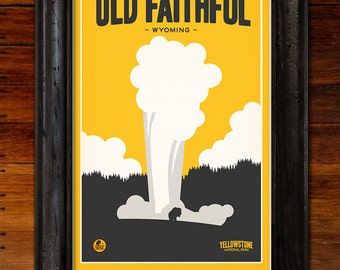 Yellowstone National Park: Old Faithful Poster