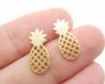 Pineapple stud earrings : Gold, silver, or rose gold