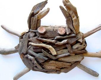 Driftwood Crab Wall Plaque-Handmade Wooden Crab Plaque-Driftwood Crab-Driftwood Decor-Crab Wall Plaque-Crab Decor-Handmade Crab Plaque-Crab