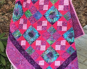 Quilted Wall Hanging,  Wall Art, Handmade Quilt, Fiber Art, Quiltsy Handmade, Table Topper
