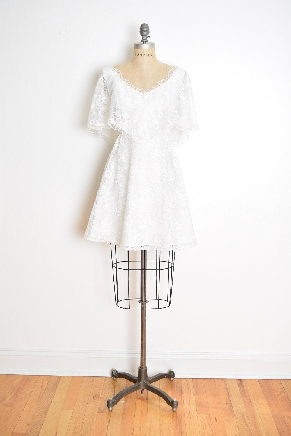 Vintage 70er Jahre Kleid 70er Jahre Hochzeit weiße