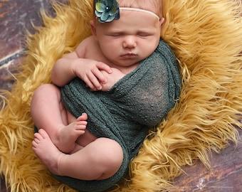Seafoam Green Stretch Knit Wrap Newborn Photography Prop