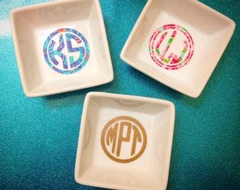 Monogram Jewelry Dish