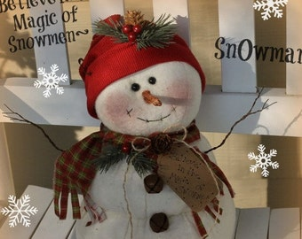 Primitive Snowman Pattern Believe in the Magic of Snowmen Pattern