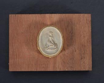 Antique Georgian Plaster Cast Intaglio Impression Psyche Grand Tour Souvenir