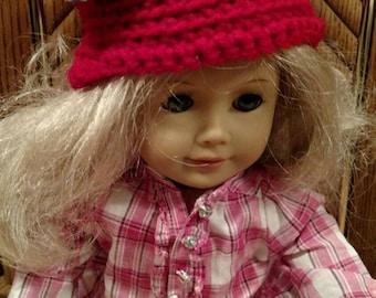 Ohio State Buckeyes inspired hat.  Preemie. American Girl Dolls.