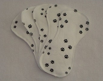 5 Puppy Paws Cotton Cloth Contour Wingless Liners