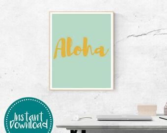 Aloha Printable Wall Art