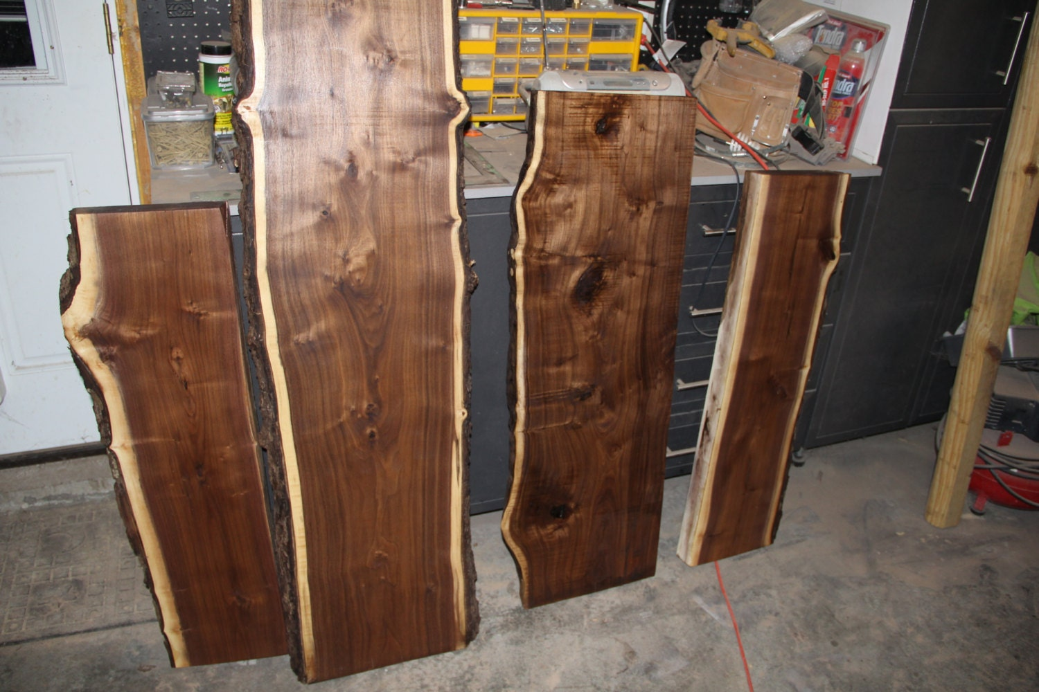 Kiln Dried Finished Live Edge Black Walnut Slabs 12 15