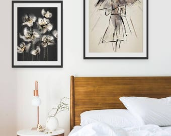 Ballet Print. Umbrella Print. Ballerina Print. Ballet Picture. Raindrops Keep Falling. Wall Art. Wall Decor.