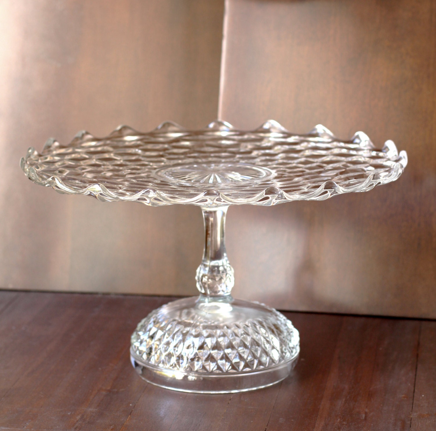 ?zoom : crystal cake plate - Pezcame.Com
