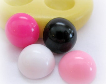Round Dot Mold 13mm Resin Mold Polymer Clay Mould DIY Earrings Findings