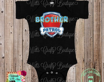 Brother Patrol Shirts and Bodysuits For Paw Patrol